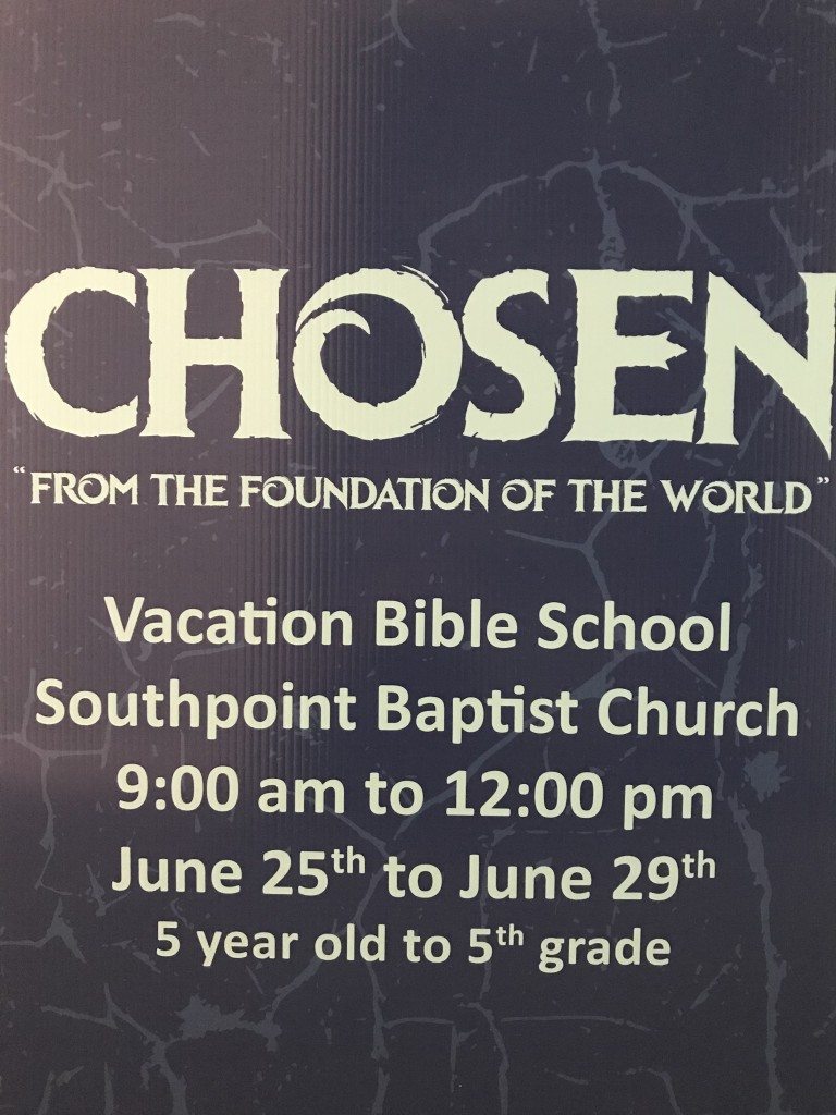 Vacation Bible School - 9:00 am to 12:00 pm. June 25th to June 29th. 5 year old to 5th grade